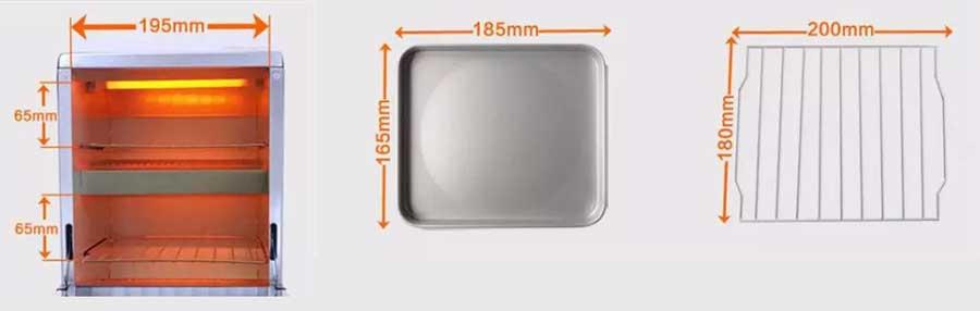 MF54 HEAT CABINET 250 dimenzija