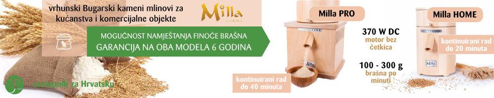 Milla HOME i Milla PRO kameni mlinovi na LIFEENERGY sa 6 godine garancije