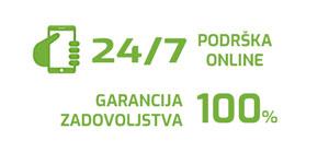 Garancija zadovoljstva i podšrka online